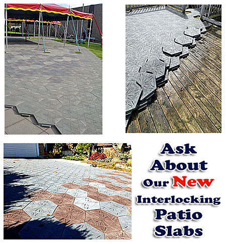 Ask About Our New Interlocking Patio Slabs