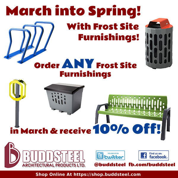 March into Spring with 10% Savings on Frost Site Furnishings!